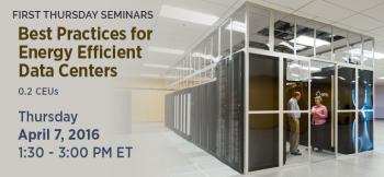 FEMP First Thursday Seminar Covers Data Center Efficiency Best Practices