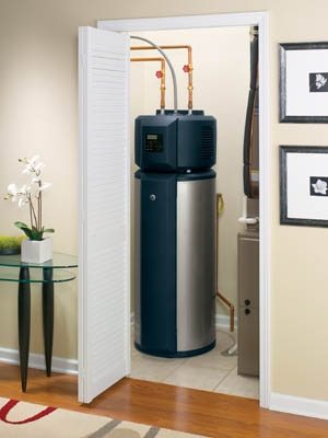 The Geospring Hybrid Water Heater will be produced at GE's Appliance Park in Louisville.   Photo courtesy of GE