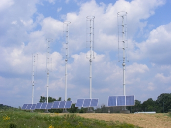 Genoa Township, Mich., installed five wind/solar hybrid units that will supply up to 20 percent of the township hall's electrical needs. | Photo Courtesy of Genoa Township