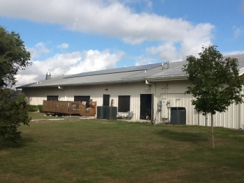 Using money from a Energy Efficiency and Conservation Block Grant, the Greater Randolph Senior Center installed a 7-kW Solar PV system to reduce energy consumption.   Photo courtesy of Bexar County, Texas.