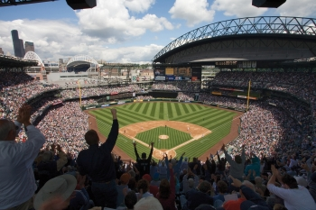 By installing a rooftap solar array at Safeco Field, the Seattle Mariners is reducing its carbon footprint and saving money. | Photo courtesy of the Green Sports Alliance.
