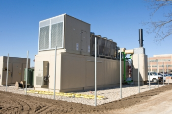 Gundersen Health System teamed up with La Crosse County to turn methane gas from the county's landfill into electricity and heat for the Gundersen Lutheran - Onalaska Campus, making it the first-known energy independent medical campus in the U.S.   Photo courtesy of Gundersen Health System.
