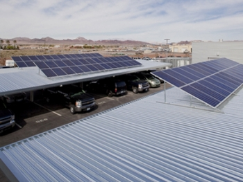 North Community Police Substation upgraded its solar energy system with the help of Recovery Act funds. The city's electric bill will be about $5,000 cheaper. | Courtesy of the City of Henderson
