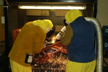 Mechanics train with plasma arc cutting equipment at the Paducah Site | Courtesy of Paducah Gaseous Diffusion Plant