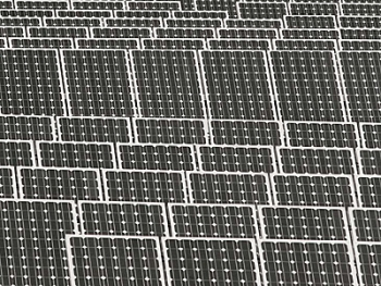 Luminit's co-generation technology could combine photovoltaics (shown in this file photo) and solar thermal energy. | File photo