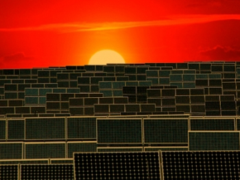 Helios USA will build photovoltaic modules such as these this fall. | File photo