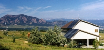 Producing clean energy not only saves money in the long term, but also provides independence and the satisfaction of knowing your actions are helping the environment. Photo courtesy of Jim Green, National Renewable Energy Lab.