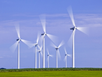 The Streator Cayuga Ridge South Wind Farm has 300 MW capacity of electricity. | Photo courtesy of Greater Livingston County Economic Development Council