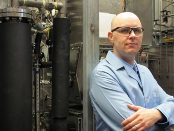 Chemical engineer Alan Zacher