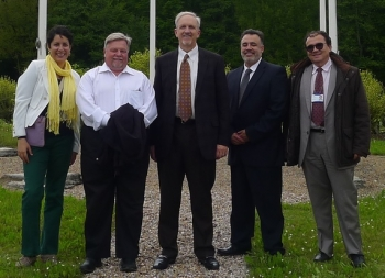 EM Lead International Affairs Specialist Ana Han, left to right, EM Deputy Assistant Secretary for Waste Management Frank Marcinowski, EM Senior Advisor Dave Huizenga, Carlsbad Field Office Manager Joe Franco and ANDRA International Cooperation and Project Manager Roberto Migues.