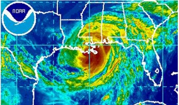 Hurricane Isaac is makes its way toward the Gulf Coast and the Energy Department provides details on the storm's impact, and the recovery and restoration activities being undertaken.   Photo courtesy of NOAA