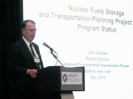 NE's Jeff Williams discusses the status of the Nuclear Fuels Storage and Transportation Planning Project.