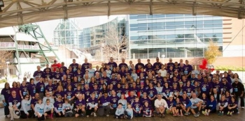 Jim's influence and inspiration led friends and family to form the largest team at this year's regional event.