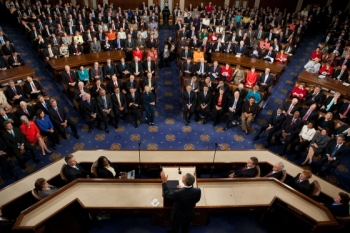 President Barack Obama outlines the details of the American Jobs Act during an address to a Joint Session of Congress in the House Chamber of the U.S. Capitol in Washington, D.C., Sept. 8, 2011. (Official White House Photo by Lawrence Jackson)