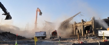 Today marked the completion of demolition of K-25's north end.