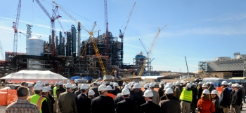 On Friday, Nov. 8, 2013, Secretary Moniz and international energy officials toured Kemper, the nation's largest carbon capture and storage facility, in Liberty, Mississippi.