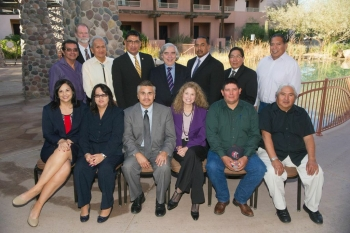U.S. Secretary of Energy Ernest J. Moniz poses with attendees to a welcome lunch for Arizona tribal leaders.   Photo by Peter Jordan Photography.