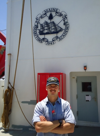 Maine Maritime Academy senior Jared Woods learned about nuclear waste management issues at EM.