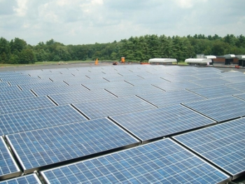 New 26 kW solar energy system to be part of curriculum at Norton Middle School. | Photo courtesy of Norton Public Schools