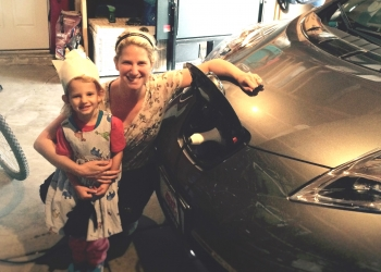 Plugging in an electric car is so easy that my 3-year-old can do it.