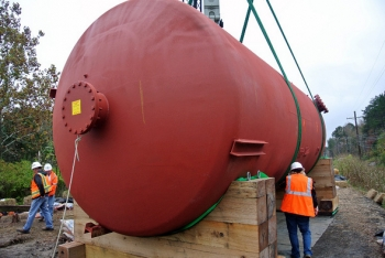 Removing these tanks is part of the steps to reduce potential risk from mercury at Y-12.