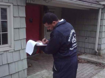 Most Catalyst Management Group employees had no previous experience with weatherization.   Photo by CMG