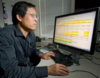 Senior Scientist Michael Wang uses his favorite tool at Argonne -- the GREET tool he helped develop.   Courtesy of Argonne