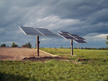 Solar panels at Terry Sandstrom's home in Wheatland, Wyo. | Photo courtesy of Terry Sandstrom