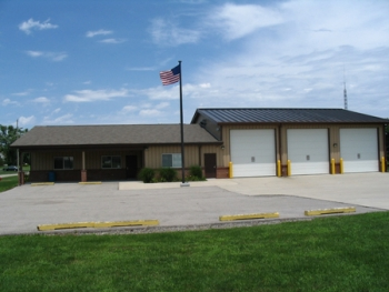 Coal Creek Fire and Rescue's fire station in New Richmond, Ind. where a new furnace and air conditioner will save energy and money.   Photo courtesy of New Richmond