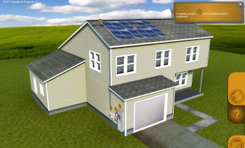 Screen shot of the solar training in the NTER interactive lessons.   Photo courtesy of the Energy Department.