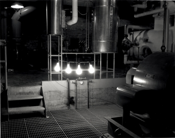 These are the first lightbulbs lit by nuclear fission at Argonne's EBR or Experimental Breeder Reactor.| Energy Department photo.