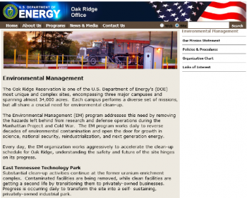 The office's previous website is shown above.