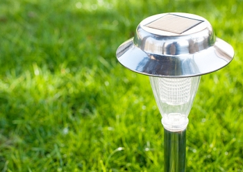 Outdoor solar lights use solar cells, which convert sunlight into electricity, and are easy to install and virtually maintenance free.   Photo courtesy of ©iStockphoto.com/ndejan