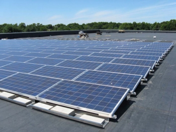 Woodbridge Township has installed solar panels atop its community center | Photo courtesy Woodbridge