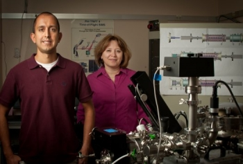 PNNL scientists Grant Johnson and Julia Laskin | Photo Courtesy of the Pacific Northwest National Laboratory