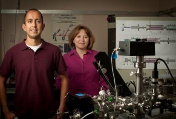 PNNL scientists Grant Johnson and Julia Laskin | Photo Courtesy of the Pacific Northwest National Laboratory