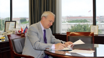 EM Acting Assistant Secretary David Huizenga signs the notice of intent in late May.