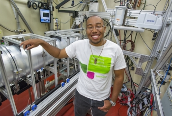 After his yearlong fellowship is completed, Polite Stewart hopes to head to graduate school to study more physics at Tokyo University. | Photo courtesy of Lawrence Berkeley National Laboratory.