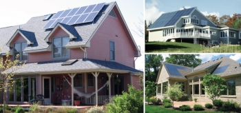 Solar homes are being sold across the country, but they can be hard to find and compare. Teams from Lawrence Berkeley National Laboratory and Elevate Energy are working to ensure that solar is properly represented in multiple listing services. | Photos courtesy of Solar Design Associates, Namaste Solar Electric, and Decker Homes