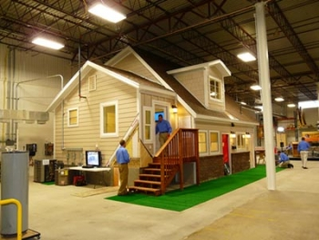 The Utah weatherization assistance program built a new demonstration house to train weatherization workers. The Intermountain Weatherization Training Center is located in a warehouse in Clearfield, Utah. | Photo courtesy of Intermountain Weatherization Training Center