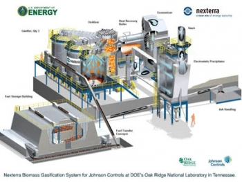 When construction is complete in 2011, Oak Ridge National Laboratory's biomass steam plant will be fueled by roughly 50,000 tons of waste wood per year. | Illustration Courtesy of Oak Ridge National Laboratory