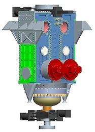 A rendering of the Pratt & Whitney Rocketdyne high pressure, dry-solids feed pump.