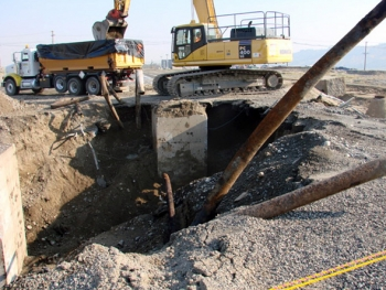 More than 8,000 feet of pipe — part of the 300 Area's process sewer system — was removed from the 300-15 Waste Site in the north section.