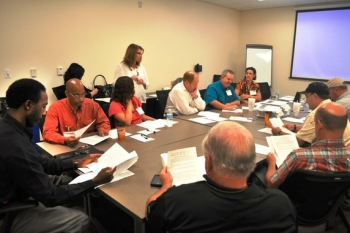 This year's event offers 40 safety courses. Participants discuss relevant safety issues and best practices.