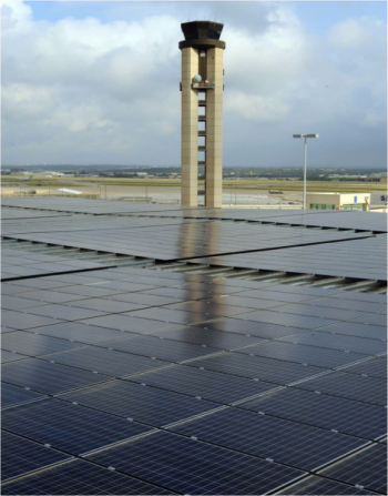 The new photovoltaic system at the San Antonio International Airport.