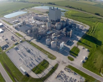 Aerial view of DuPont's cellulosic ethanol biorefinery in September. | Photo courtesy of DuPont