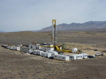 Sierra Geothermal discovered temperatures hot enough for large-scale geothermal energy production at one of its wells near Silver Peak, Nev.   Photo courtesy of Sierra Geothermal