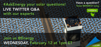 "What do you want to know about solar energy? Submit your questions in advance of our #AskEnergy Twitter Q&A. | Graphic by <a href=""http://energy.gov/contributors/sarah-gerrity"">Sarah Gerrity</a>, photo courtesy of NRGEnergy."