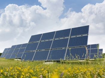 Aqua Pennsylvania, Inc. installed a 1 MW solar farm at its Ingram's Mill Water Treatment Plant in East Bradford, Pa. The solar project is saving the water company $77,000 a year. | File photo
