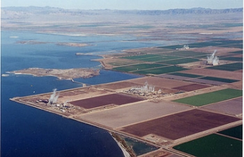 The Salton Sea region is one of North America's prime sources of lithium.   Photo Courtesy: Pure Energy